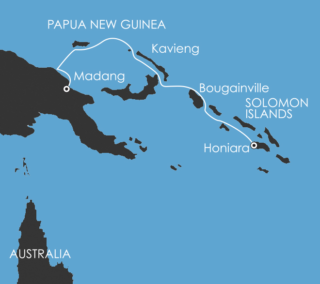 Map for South Pacific: Melanesia Discoverer 8 Oct 2017