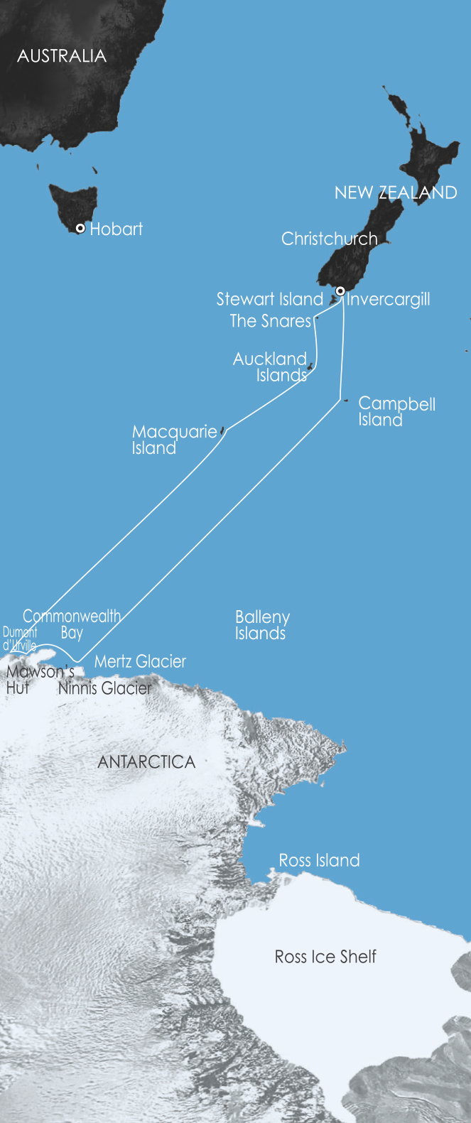 Map for East Antarctica: In the Wake of Mawson 8 Jan 2018