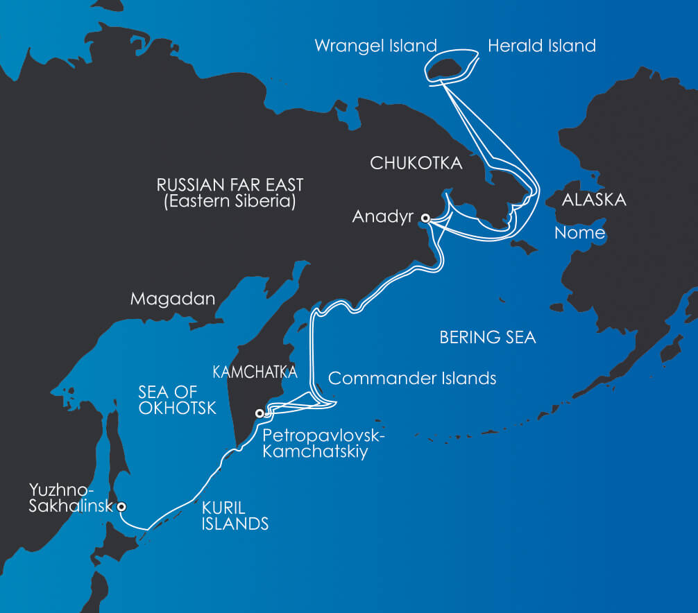 Map for Russian Far East Voyages
