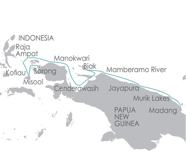 Map for South Pacific: Indonesian Explorer 30 September 2019