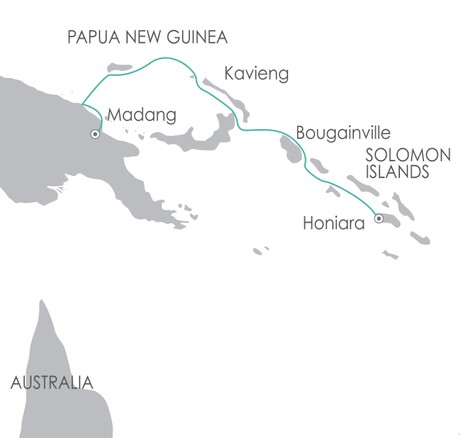 Map for South Pacific: Melanesia Discoverer 10 Oct 2020