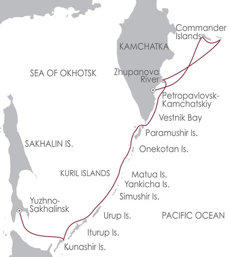 Map for Kamchatka and Kuril Islands: Russia's Ring of Fire 27 May 2020