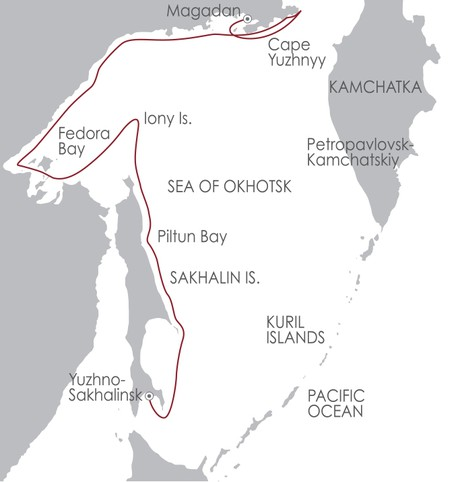Map for Sea of Okhotsk: Seals, Seabirds and a Legacy of Sorrow 9 June 2020