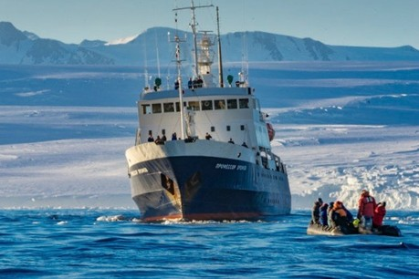 Expedition Ship Spirit of Enderby explores Antarctica